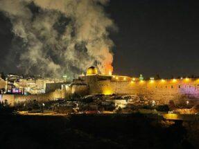 مسجد الاقصی به آتش کشیده شد