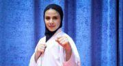 تلاش بانوی کاراته کار گیلانی برای کسب سهمیه المپیک